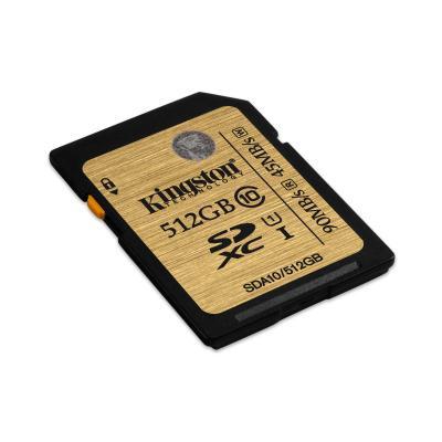 Kingston technology flashgeheugen: 512GB SDXC UHS-I Class 10 - Zwart