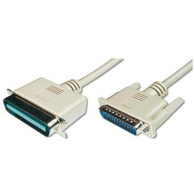Assmann electronic printerkabel: AK-580101-018-E - Beige