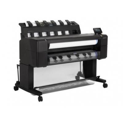 Hp grootformaat printer: Designjet T1530 - Cyaan, Grijs, Magenta, Mat Zwart, Foto zwart, Geel