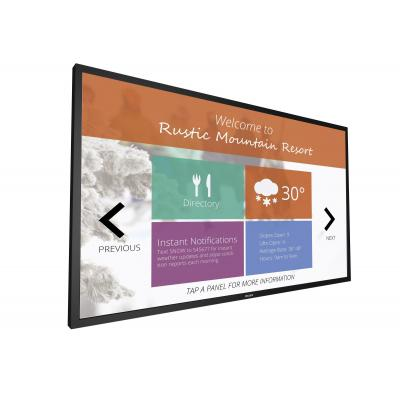 Philips public display: Signage Solutions Multi-Touch Display 65BDL3010T/00 - Zwart