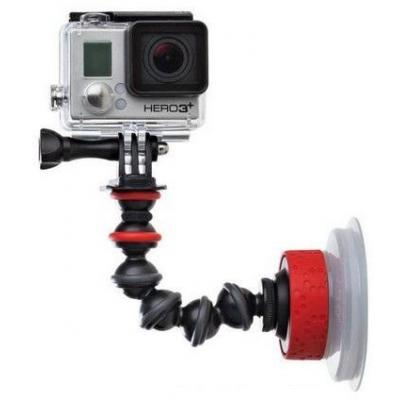 Joby camera-ophangaccessoire: Suction Cup & GorillaPod arm for action video cameras - Zwart, Rood