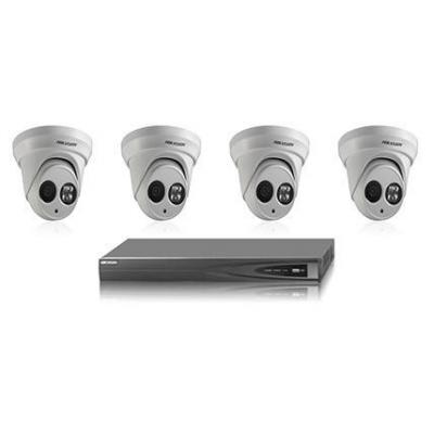 Hikvision digital technology video toezicht kit: HIK4MPOutdoorbundel - Zwart, Wit