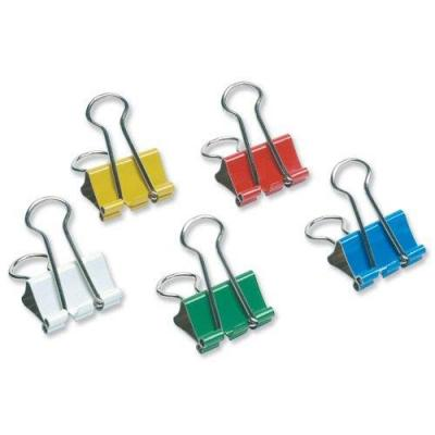 5star paperclip: Double clip in models from 19 mm Assorted, Pack of 12 Pieces - Multi kleuren