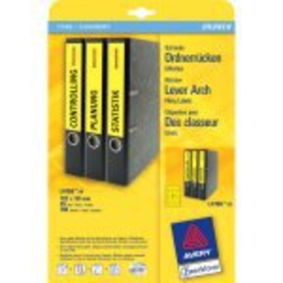 Avery Border Binder Labels, Yellow 192 x 38mm (20) Etiket