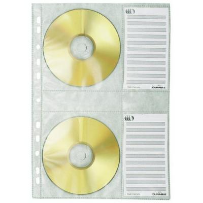 Durable : CD Hoezen, A4, 4CD, Transparant, 5Pcs.
