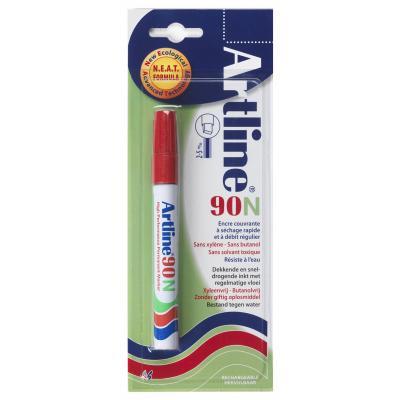 Artline 90 Red Marker - Rood, Wit