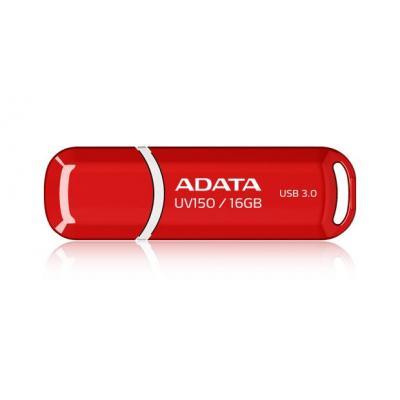 Adata USB flash drive: 16GB DashDrive UV150 - Rood