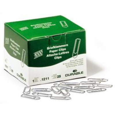 Durable 1000 pcs, 32 mm Paperclip - Metallic