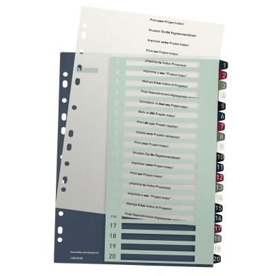 Leitz Style Printable Index, PP, extra wide Indextab