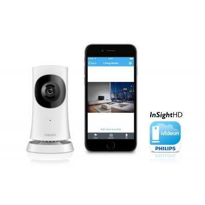 Philips beveiligingscamera: Draadloze In.Sight HD-thuismonitor - Wit