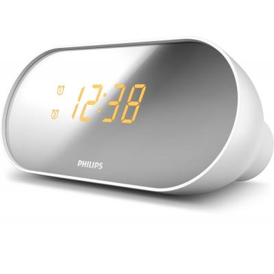 Philips radio: Clock Radio, FM, 100 - 240V, 50/60Hz, CR2032 - Wit