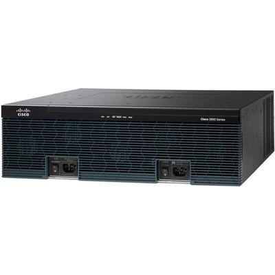 Cisco 3925 Router - Zwart, Grijs