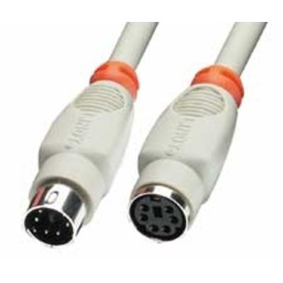 Lindy PS/2 20m PS2 kabel - Grijs