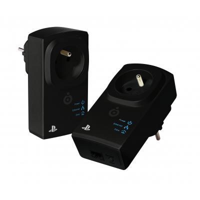 Bigben interactive powerline adapter: Officiële PLC adapter twin pack voor PS4/PS3 - Zwart