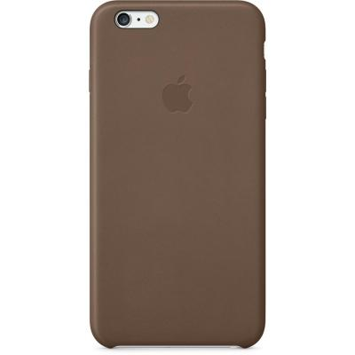 Apple mobile phone case: Leren hoesje voor iPhone 6 Plus, olijfbruin
