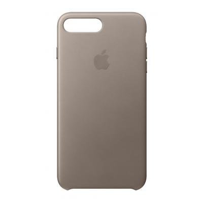 Apple mobile phone case: Leren hoesje voor iPhone 8 Plus/7 Plus - Taupe
