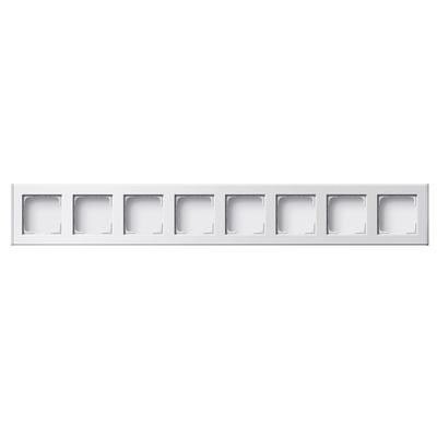 GIRA Profiel 55 voor verticale en horizontale installatie achtvoudig - Wit