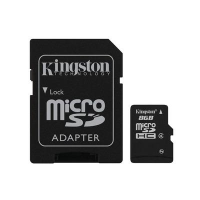 Kingston technology flashgeheugen: MicroSD High Capacity - Zwart