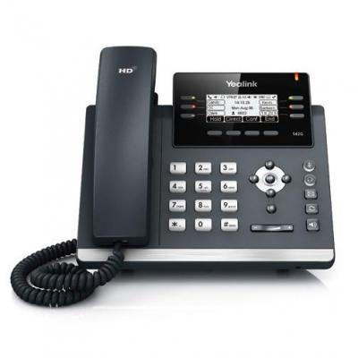 Yealink ip telefoon: SIP-T42G - Zwart, Grijs