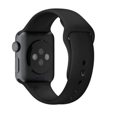 Apple horloge-band: 38mm Black Sport Band with Space Gray Stainless Steel Pin - Zwart