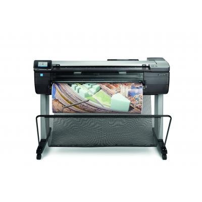 Hp grootformaat printer: Designjet T830 36-in - Zwart, Cyaan, Magenta, Geel