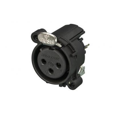 Neutrik XLR, Plastic housing, 19.8 x 19.8 x 19.5mm Kabel connector - Zwart