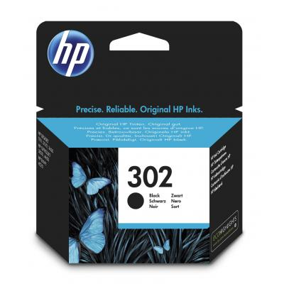 Hp inktcartridge: 302 Black Original Ink Cartridge - Zwart