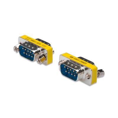 Digitus D-Sub9 M/M Kabel adapter - Zilver