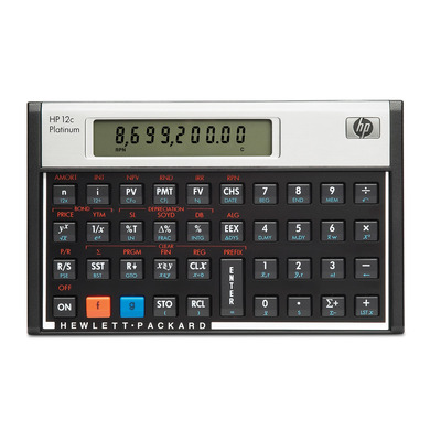 Hp calculator: 12c - Aluminium, Zwart