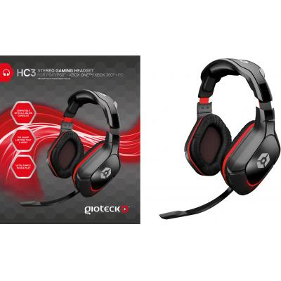 Gioteck game assecoire: Gioteck, HC3 Wired Stereo Headset (USB)  (PC / MAC / PS3 / PS4 / / Xbox 360 /  Xbox One / .....