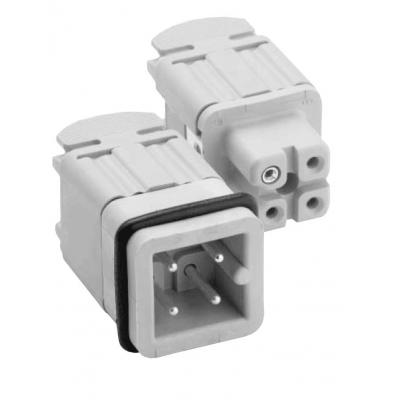 Amphenol 3 + PE, 400 V, 18 A, grey electric wire connector