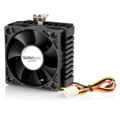 Startech.com Hardware koeling: 65x60x45mm Socket 7/370 CPU Koelventilator met Heatsink en TX3 Connector - Zwart