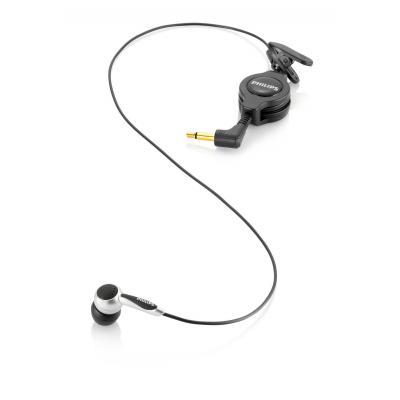 Philips microfoon: LFH9162, 50-20000 Hz, -35 dB, mono 3.5mm, wart/zilver - Zwart, Zilver