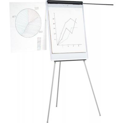 5star flipover: Easel Drywipe Magnetic with Pen Tray and Extension Arms Capacity, A1, Grey - Grijs