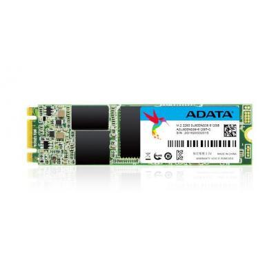 Adata SSD: 512 GB, M.2 2280, 3D TLC, 22 x 80 x 3.5 mm, 8g, SATA 6Gb/s, 0 - 70°C, 1500G/0.5ms, 2000000 h - Zwart, Groen