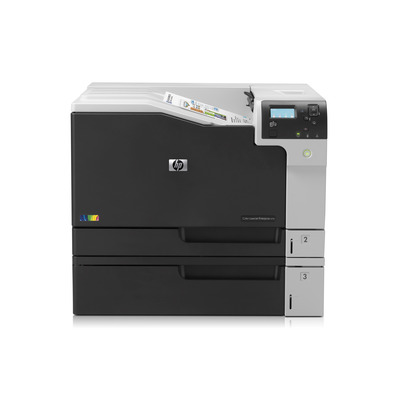 Hp laserprinter: LaserJet Color LaserJet Enterprise M750n - Zwart, Wit