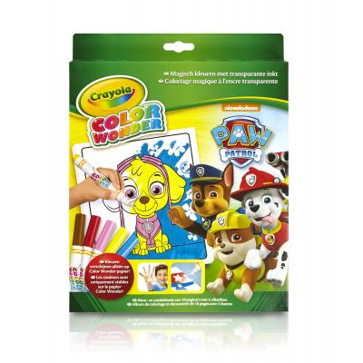 Crayola kleurplaat en boek: Color Wonder - Box Paw Patrol