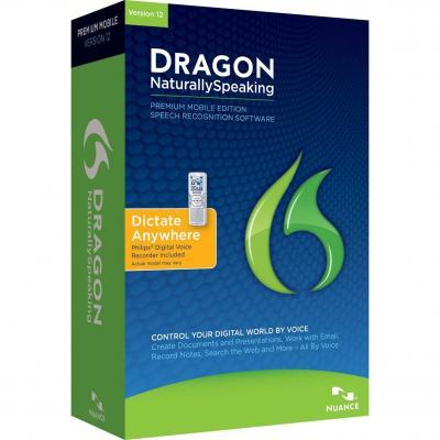 Nuance stemherkenningssofware: Dragon NaturallySpeaking 12.0 Premium Mobile