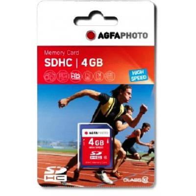 AgfaPhoto 4GB SDHC Flashgeheugen - Blauw