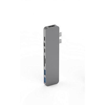 HYPER hub: HyperDrive PRO USB-C HUB Space Gray - Grijs