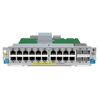 Hewlett packard enterprise netwerk switch module: 20-port Gig-T PoE+ / 2-port 10GbE SFP+ v2