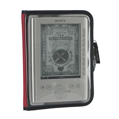 M-Edge Leisure E-book reader case - Rood, Transparant