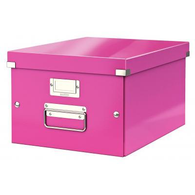 Leitz archiefdoos: Click & Store middelgrote doos - Roze