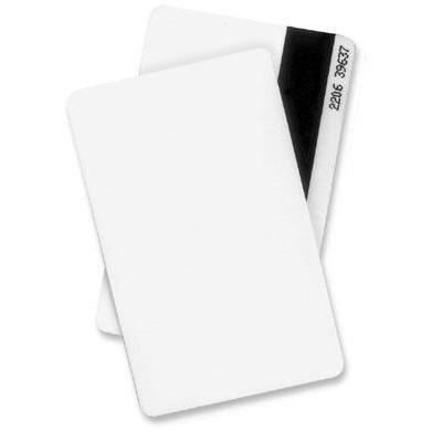 Datacard lege plastic kaart: Plastic ID Card, 30 mil, 100 pcs - Wit