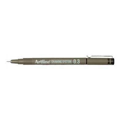 Artline viltstift: DRAWING SYSTEM ZWART EK233 03