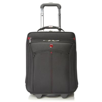 "Wenger/swissgear laptoptas: VERTICAL wheeled computer case 16"" Black - Zwart"