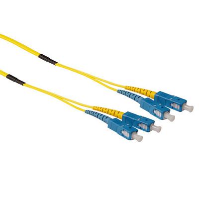 ACT 50m Singlemode 9/125 OS2 duplex ruggedized fiber kabelmet SC connectoren Fiber optic kabel - Blauw,Geel