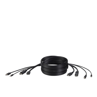 Belkin F1DN2CC-HHPP6t KVM kabel - Zwart
