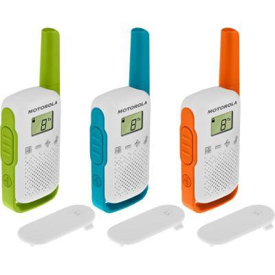 Motorola TALKABOUT T42 walkie-talkie - Blauw,Groen,Oranje,Wit