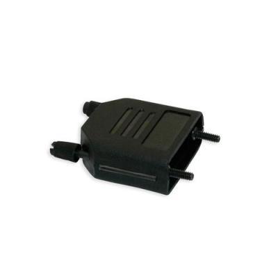 Intronics kabelbeschermer: D-Sub connectorkap, met lange vergrendelschroeven - Zwart